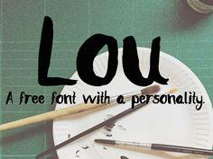 Lou – Free Hand Drawn Font