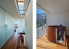 Spial stair in San Francisco by Craig Steely #spiral #spiralstairs #stairs #wood