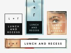 "Fuzzco ""Lunch + Recess"" Branding #recess #logos #branding #fuzzco #and #lunch"