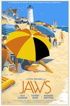 Jaws #movie #print #retro #jaws #vintage #poster #film #beach