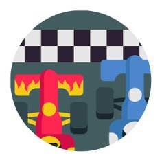 See more icon inspiration related to proof, race, photo finish, sports and competition, formula one, evidence, formula 1, winner and car on Flaticon.