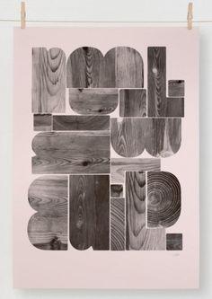 Typeverything.com -BUILDby Berg. ViaEditions... - Typeverything #type #print #lettering #wood