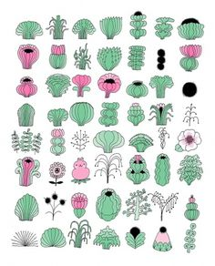 All sizes | flora collection | Flickr - Photo Sharing! #print #plants #illustration