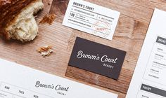 Studio Nudge |Â brown's court #bakery #identity #stationary