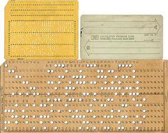 hewlett-packard punch card #computer #analog #hp #punched #card #hewlett-packard #punch