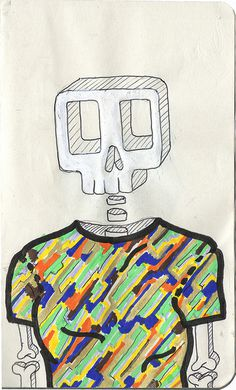 Head's serie #serie #color #tshirt #head #illustration #colors #handmade #skull
