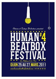 allan aubry #beatbox #illustration #festival #posterhuman