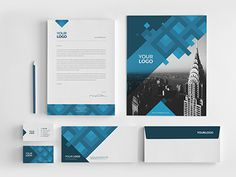 Blue Pattern Stationery You can download it here: http://graphicriver.net/item/blue-pattern-stationery-pack/7867560?ref=abradesign #pattern #modern #stationery #template #blue #download #graphicriver