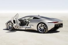Jaguar C X75 Hybrid Supercar Rear Side Picture
