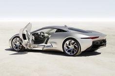 Jaguar C X75 Hybrid Supercar Rear Side Picture
