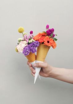 Flower Cone | The Design Ark #flower cone