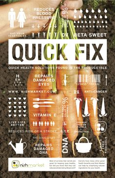 NATURE'S CURE on the Behance Network #quick fix infographic