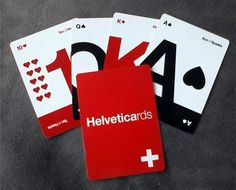 'Helveticards': Minimalist Typography Cards for the Typophile, Gambler - DesignTAXI.com #design #typography