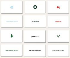 design work life » cataloging inspiration daily #christmas #card #print