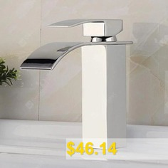 C0007 #Total #Height #17cm #Basin #Waterfall #Faucet #- #SILVER