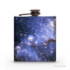 Small Magellanic Cloud of Stars 6oz Whiskey Hip Flask #clouds #flask #space #night #stars #outerspace