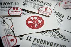 LE POURVOYEUR : Sébastien Bisson #business #branding #card #print #pourvoyeur #le #logo