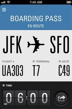 App Store - Flight Card #ticket