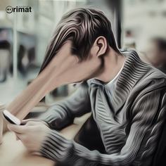 Phone Dependence by Orimat. #photoshop #photomanipulation #digitalart #phone #designbyorimat