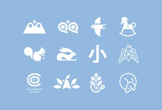 C-logo-symbol-logos-pictogram-marks-trademarks-trademark-glyph-icon-icons-logotype-collection-vacaliebres-birds