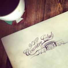 Caligraphy and Coffee #script #katie #hand #by #st #drawn #invites #wedding