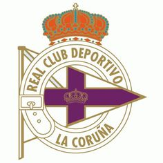 Deportivo La Coruna Primary Logo () #spain #crest #soccer #sports #type