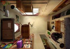photos taken from the underbelly of a room by michael rohde