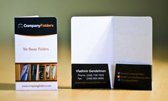 Miniature Pocket Folder Business Card #business #mini #card #folders #pocket #miniature #cards #folder
