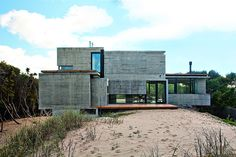 Concrete House With Industrial Features on the Beach by BAK Architects #architecture