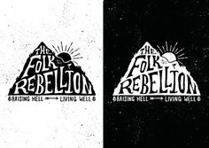 Folk Rebellion Logo by Oban Jones #hand drawn #illustration #typography