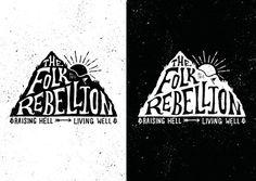 Folk Rebellion Logo by Oban Jones #typography #drawn #hand #illustration