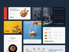 A food and drink #UI kit made of useful elements you may use in your upcoming projects.