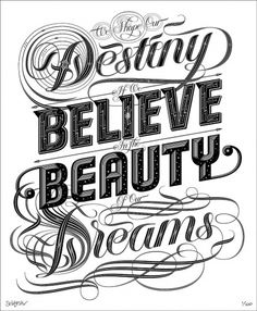 'Dreams', 'Stars' & 'So Much To Do' | I love typography, the typography and fonts blog