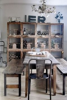 FFFFOUND! | Xote #interior #letters #chair #design #wine #vintage #table