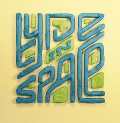 Typography, Type in Space, Material type
