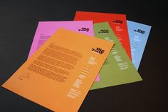 All sizes | Big Telly letterheads | Flickr - Photo Sharing! #colourful #branding #design #big #stationery #telly #letterhead