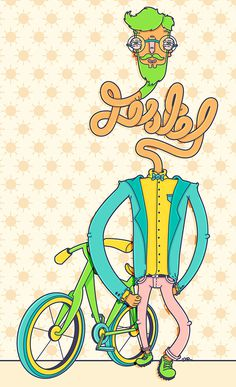 """Jistel"" by Molly Yllom #illustration #character #design #hipster"