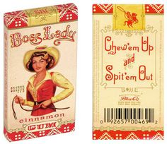 TheDieline.com: Boss Lady #packaging #gum