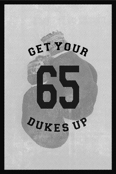 Get your dukes up. #sport #tyson #mike #design #boxing #dukes #type