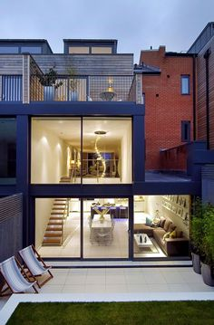 Exquisite House in London With Double Volume Space by LLI Design #architecture #london