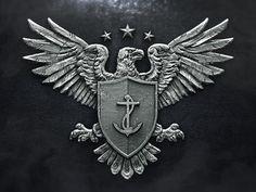 Logo Design Defender #design #graphic #eagle #app #usa #3d