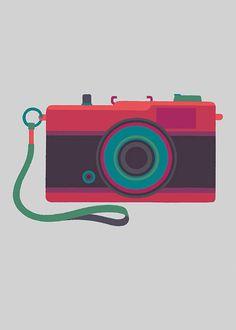 Basilicas print series by Adrian Johnson celebrates classic cameras #camera #illustration