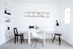(via JONAS) #minimal #white #interior #black #clean #grey #floor