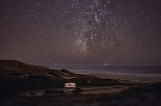 Images Taken Before to Go to Sleep by - Alessandro Puccinelli - A Van in the Sea #camp #portugal #night #trip #photography #sea