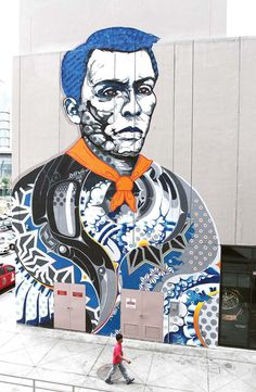 ART ON THE WALLS – Andres Bonifacio (Bonifacio High Street Central, Taguig) by Doppel.