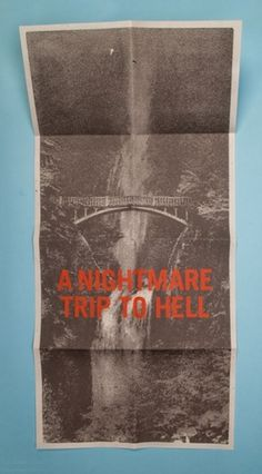 Morey Talmor – Graphic Design | A NIGHTMARE TRIP TO HELL #newsprint #poster #typography