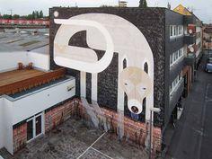 578538_228197300672631_758896618_n #mural #street #wall #painting #wolf #art