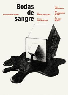 CDN : Isidro Ferrer #blood #ferrer #huesca #spain #house #theatre #isidro #illustration #poster