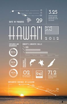 Hawaii on Behance #infographic
