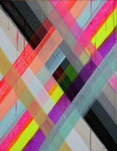 FRIENDSHIP BRACELET: THE BALLAD OF NEVER FORGET | Maya Hayuk | Show & Tell Gallery | Toronto Contemporary Art Gallery #maya #color #hayuk #illustration #painting